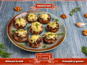 Ciuperci cu gorgonzola