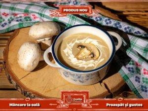 Supa crema de ciuperci
